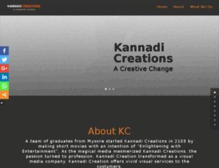 kannadicreations.com screenshot