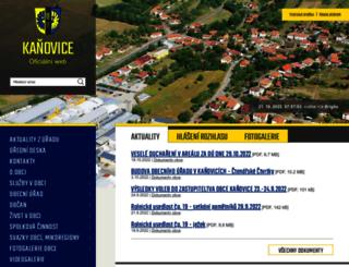 kanovice.cz screenshot