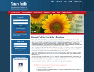 kansas.notarypublicunderwriters.com screenshot
