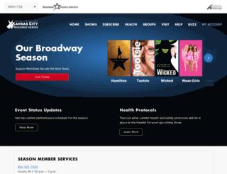 kansascity.broadway.com screenshot