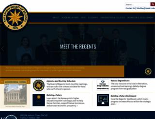 kansasregents.org screenshot