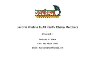 kanthibhatia.com screenshot