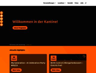 kantine.com screenshot