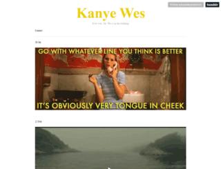 kanyewesanderson.tumblr.com screenshot