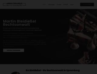 kanzlei-bleidiessel.de screenshot