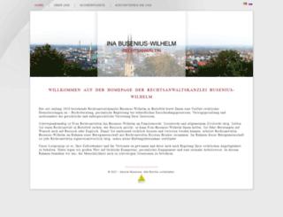 kanzlei-busenius.de screenshot
