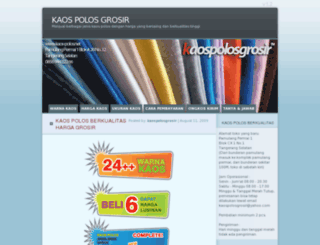 kaospolosgrosir.wordpress.com screenshot