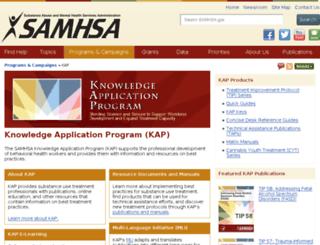 kap.samhsa.gov screenshot