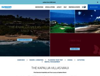 kapaluavillasmaui.com screenshot