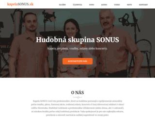 kapelasonus.sk screenshot