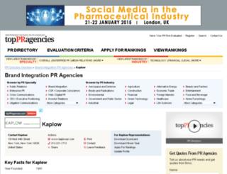 kaplow.toppragencies.com screenshot