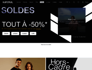 kaporal.com screenshot