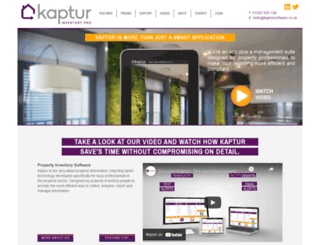 kaptursoftware.co.uk screenshot