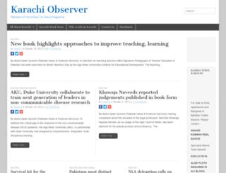karachiobserver.com screenshot