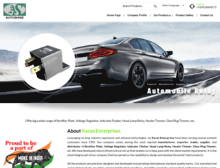 karanautoshine.com screenshot