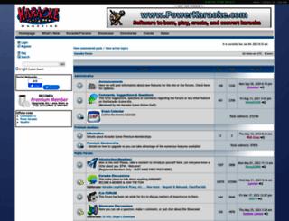 karaoke-forum.com screenshot