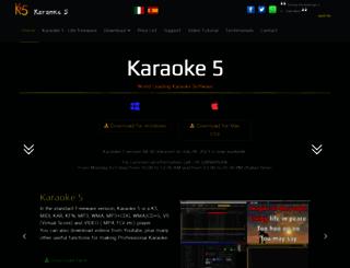 karaoke5.com screenshot