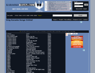 karaokehaven.com screenshot