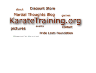 karatetraining.org screenshot