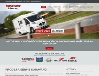karavanyliberec.cz screenshot
