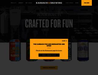 karbachbrewing.com screenshot