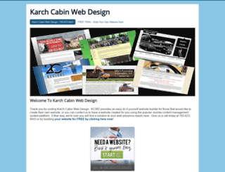 karchcabinwebdesign.com screenshot