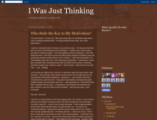 karen-iwasjustthinking.blogspot.com screenshot