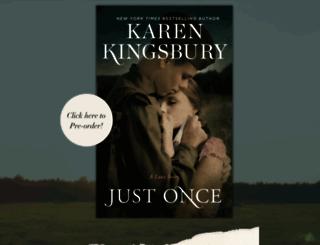 karenkingsbury.com screenshot