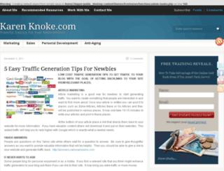 karenknoke.com screenshot