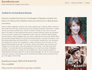 karenknotts.com screenshot