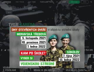 kariera.army.cz screenshot