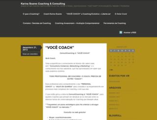 karinasoarescoach.wordpress.com screenshot