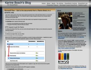 karinebosch.wordpress.com screenshot
