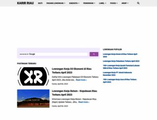karirriau.com screenshot
