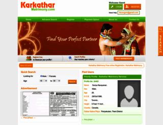 karkatharmatrimony.com screenshot