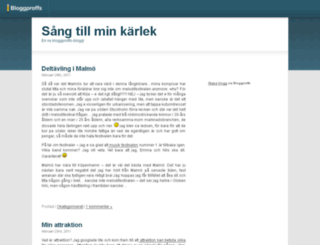 karlekssangen.bloggproffs.se screenshot