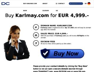 karlmay.com screenshot