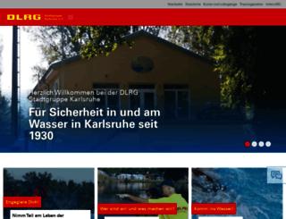 karlsruhe.dlrg.de screenshot