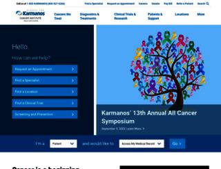karmanos.org screenshot