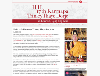 karmapa-london.org screenshot