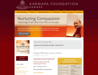 karmapafoundation.eu screenshot
