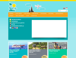 karmatourbali.com screenshot