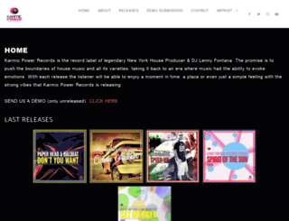 karmic-power-records.com screenshot