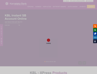 karnatakabank.com screenshot