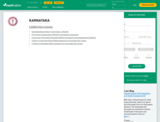 karnatakasslc.meritnation.com screenshot