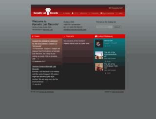 karnaticlabrecords.com screenshot