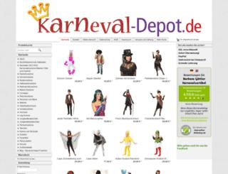 karneval-depot.de screenshot