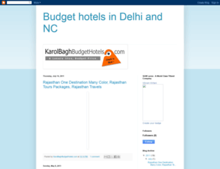 karolbaghbudgethotels.blogspot.com screenshot