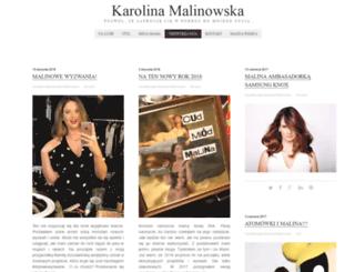karolinamalinowska.pl screenshot