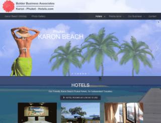 karon-phuket-hotels.com screenshot
